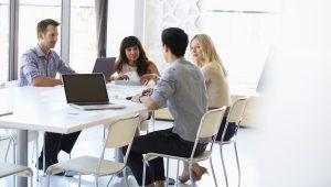 Reunión de trabajo. Consultoría de proyectos de informática
