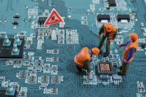 ensayo en miniatura de mantenimiento informático