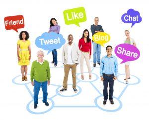 la gente comparte en redes sociales