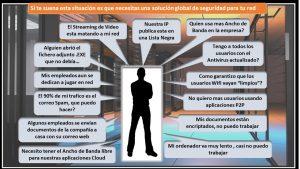 Empresario y los problemas que surjen en seguridad informática.