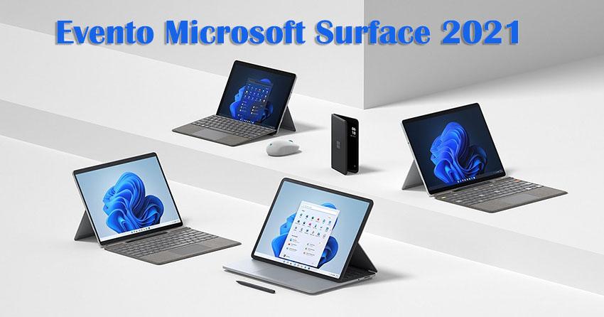 Evento Microsoft Surface 2021